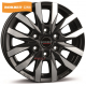 Borbet CW6 6.5x16/6x130 D84.1 ET62 black polished matt