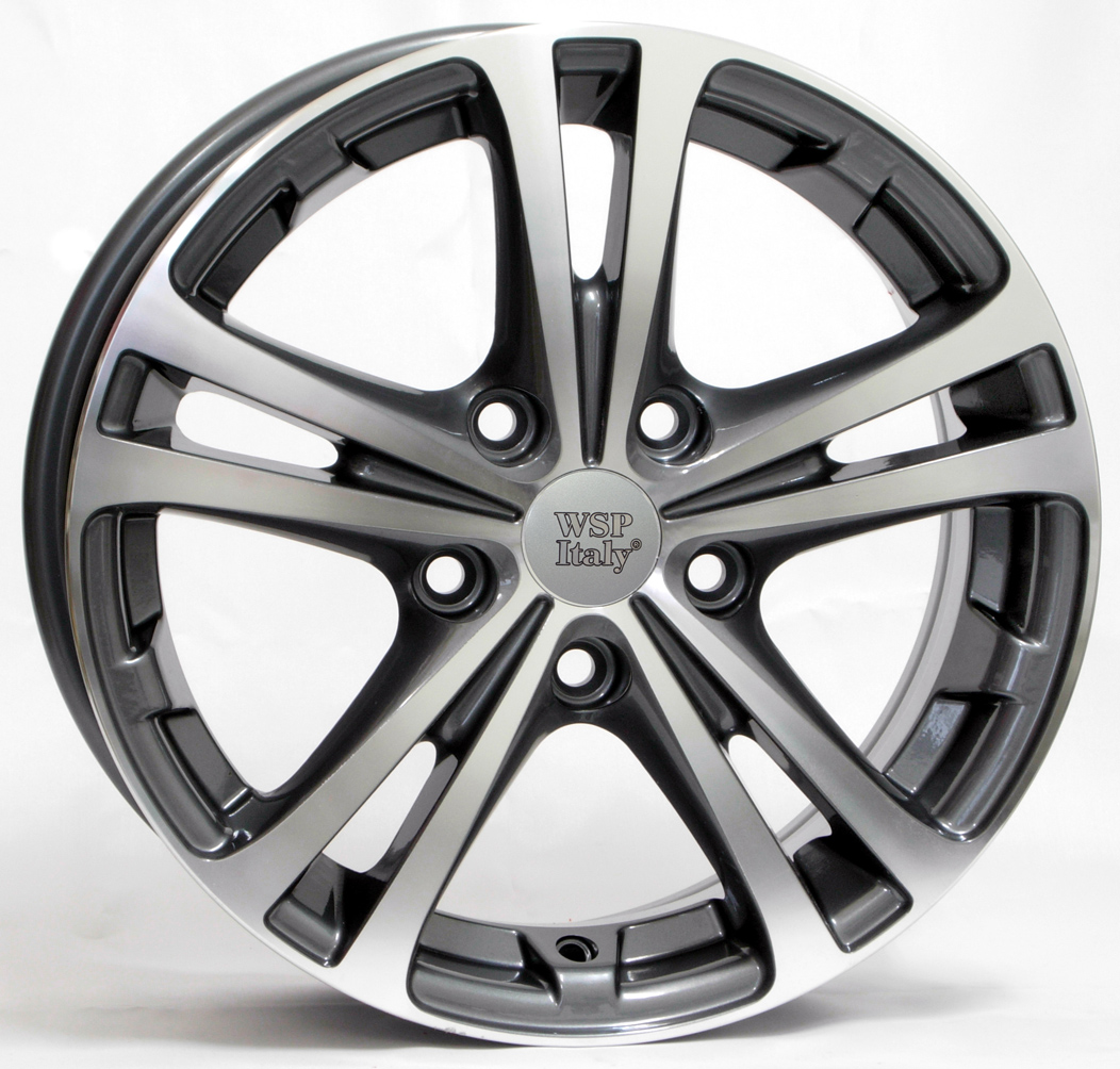 WSP Italy DANUBIO W3502 6x15/5X100 D57.1 ET43 Anthracite polished