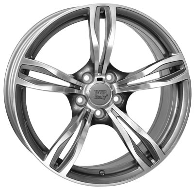 WSP Italy DAYTONA W679 8.5x19/5X120 D72.6 ET25 ANTHRACITE POLISHED