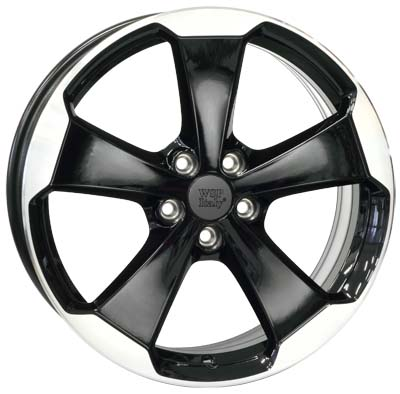 WSP Italy Laceno W465 7.5x18/5x112 D57.1 ET51 Glossy black Polished