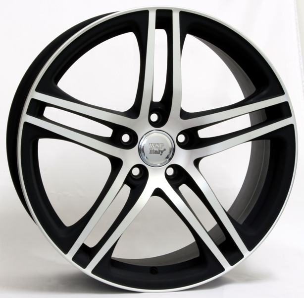 WSP Italy PAUL W556 8.5x19/5X112 D57.1 ET35 Dull Black Polished