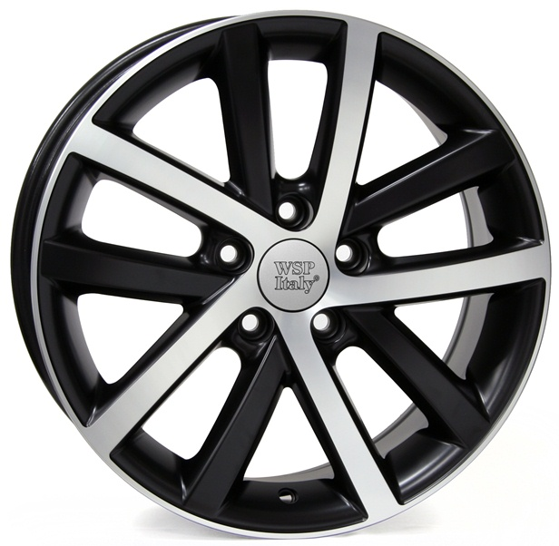WSP Italy Rheia W460 7.5x17/5X112 D57.1 ET54 Dull Black Polished