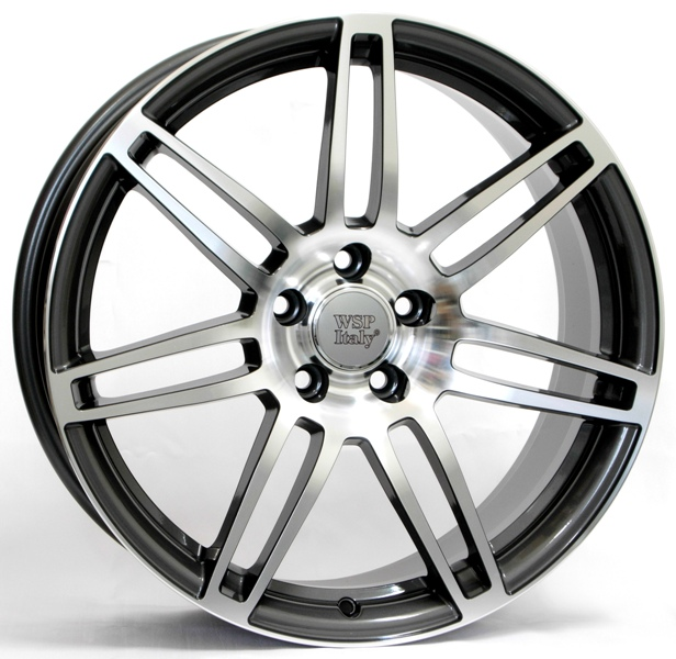 WSP Italy S8 COSMA TWO W557 7x16/5X112 D66.6 ET39 ANTHRACITE POLISHED