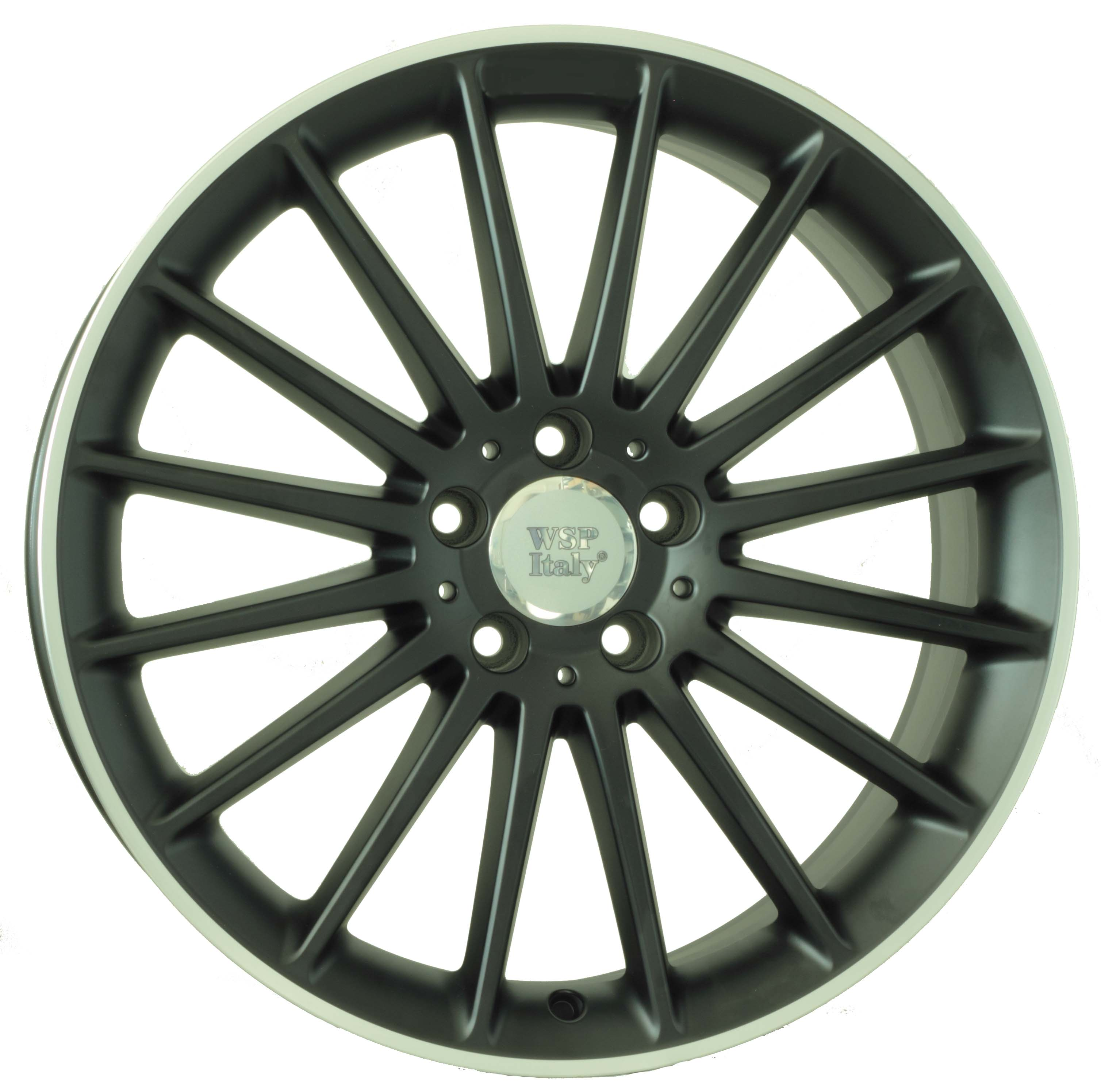 WSP Italy SHANGHAI W773 8.5x19/5X112 D66.6 ET44 Dull Black Polished