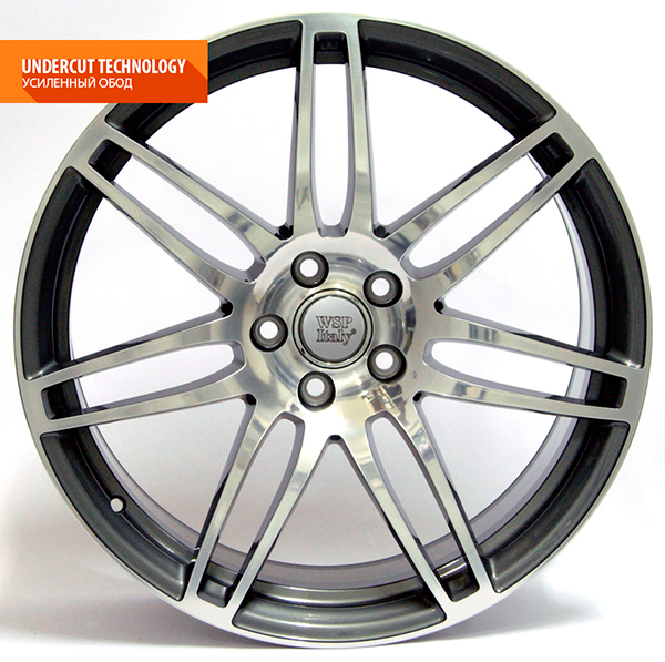 WSP Italy S8 COSMA W554 7.5x17/5X112 D57.1 ET35 Anthracite polished
