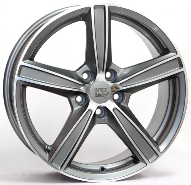 WSP Italy LIMA W1254 8x19/5x108 D63.4 ET49 ANTHRACITE POLISHED