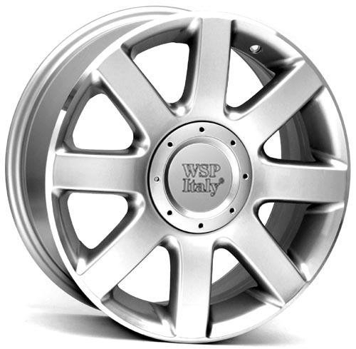 WSP Italy MARATEA W439 7x16/5x100/112 D57.1 ET42 Silver Polished Lip