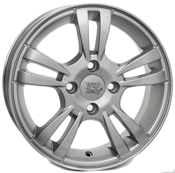 WSP Italy PATRA W3604 5.5x14/4X100 D56.6 ET45 Silver