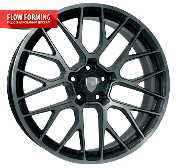 WSP Italy FUJI W1056 10x20/5X112 D66.6 ET19 Antracite Polished