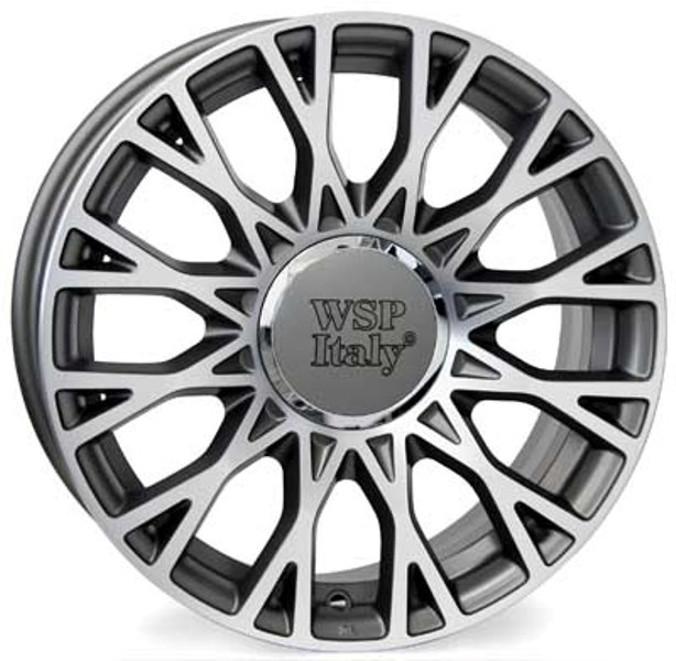 WSP Italy GRACE W162 6x15/4X098 D58.1 ET35 Antracite Polished