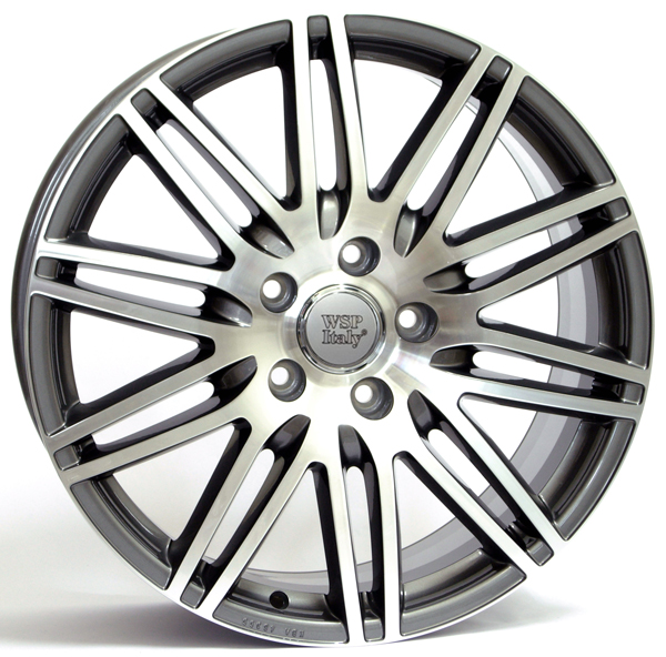 WSP Italy Q7 ALABAMA W555 8.5x19/5X130 D71.6 ET62 Antracite Polished