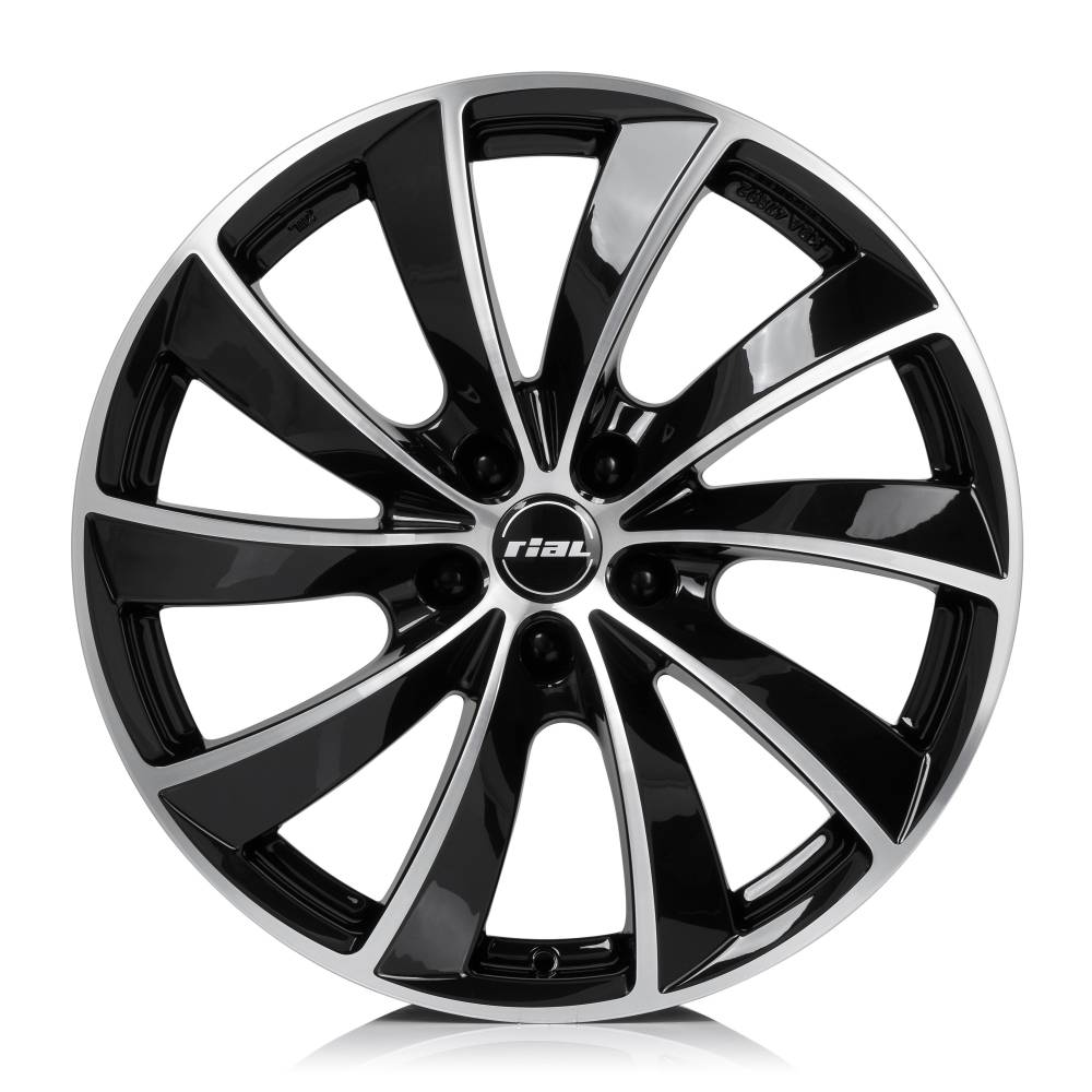 Rial Lugano 6.5x16/4x108 D65.1 ET25 diamond-black front polished