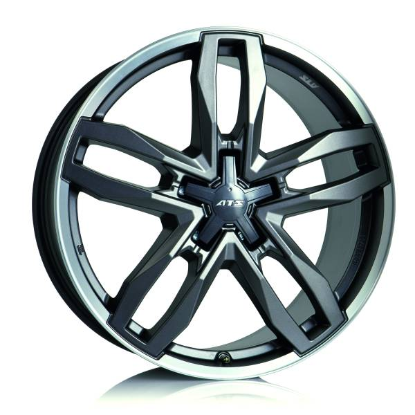 ATS Temperament 9.5x20/5x114.3 D70.1 ET30 blizzard-grey lip polished
