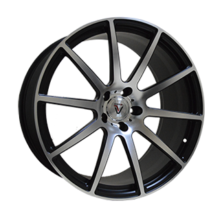 Replica Vissol F-190 10.5x21/5x120 D74.1 ET33 MATTE-BLACK-WITH-MATTE-POLISHED