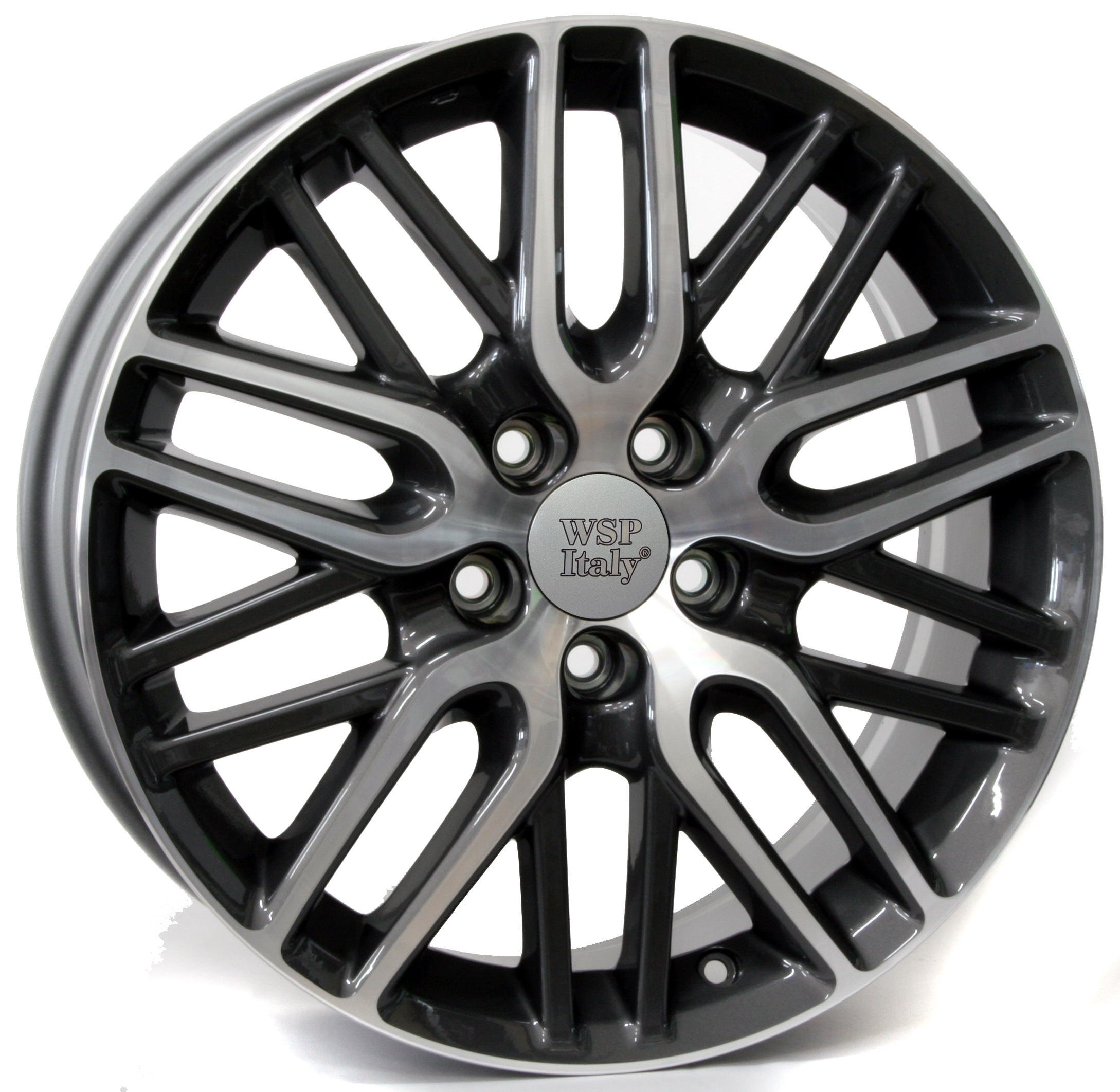 WSP Italy IMPERIA W2408 7x17/5X114.3 D64.1 ET55 ANTHRACITE POLISHED