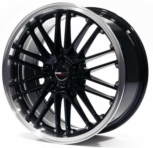 Borbet CW2 7x17/5x114.3 D72.6 ET40 black rim polished
