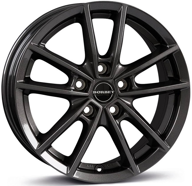 Borbet W 6.5x16/5x108 D72.5 ET50 mistral anthracite glossy