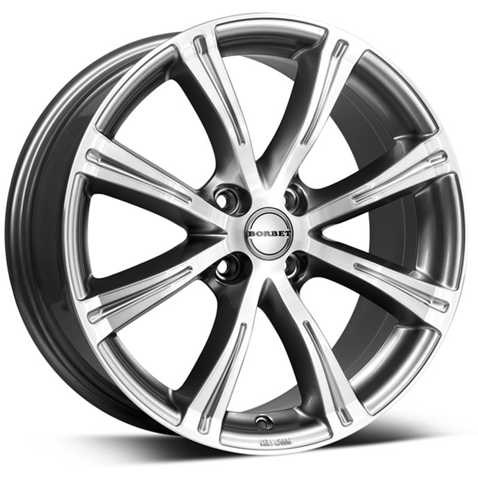 Borbet X8 7x15/4x098 D64.1 ET35 black chrome polished