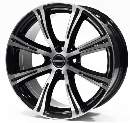 Borbet X8 7x15/4x098 D64.1 ET35 black polished