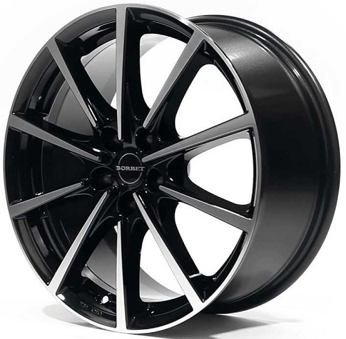 Borbet BL5 8x17/5x112 D72.6 ET37 black polished