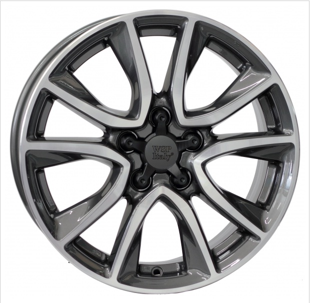 WSP Italy GERDA W2411 6.5x17/5x114.3 D67.1 ET45 ANTHRACITE POLISHED