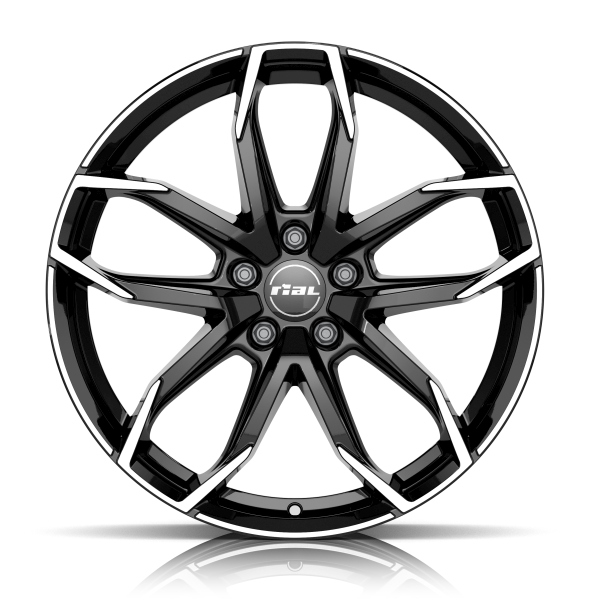 Rial Lucca 6.5x16/4x108 D65.1 ET20 diamond-black front polished