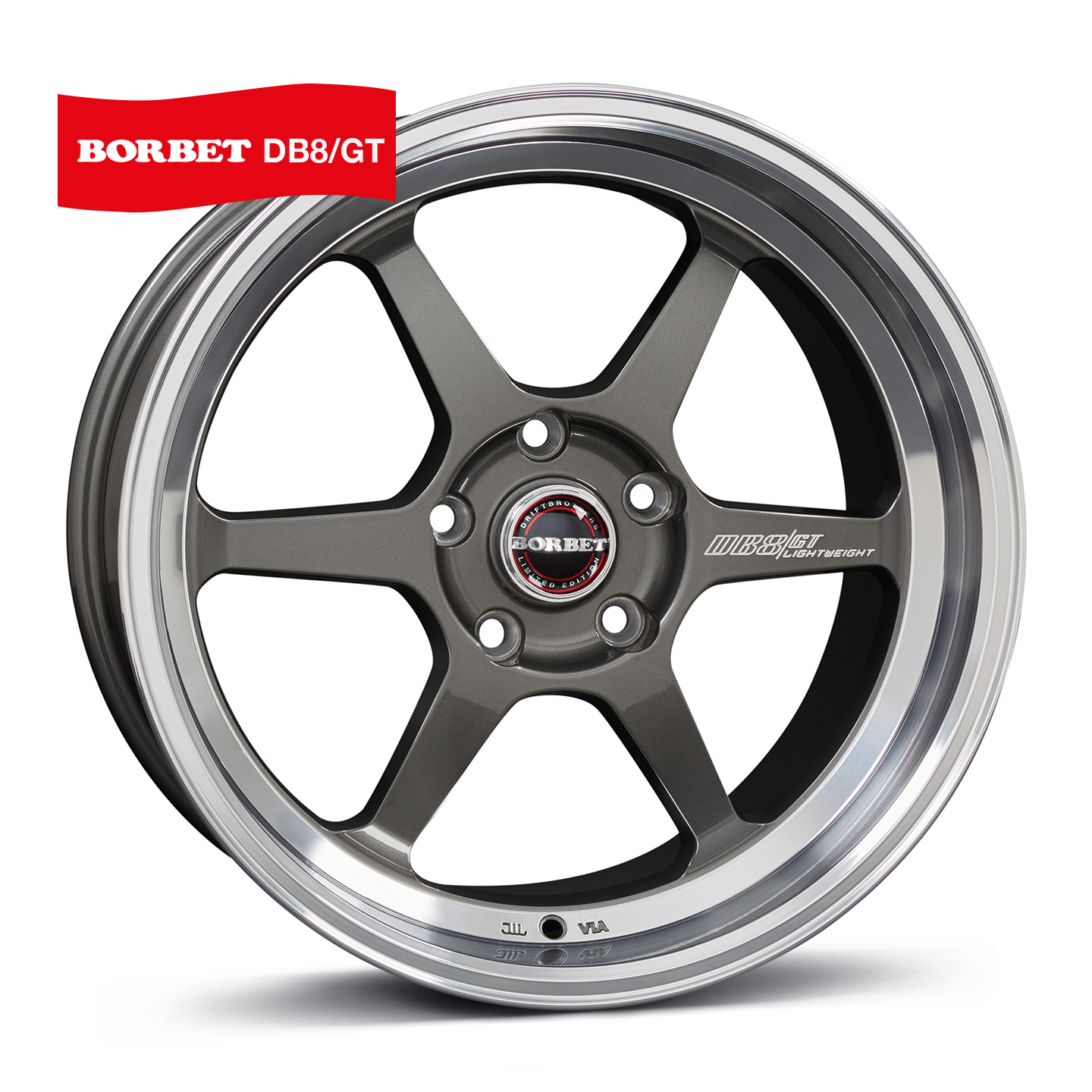 Borbet DB8GT 9.5x18/5x120 D72.6 ET30 graphite rim polished