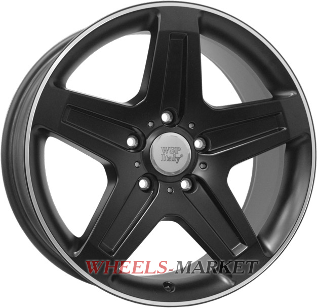 WSP Italy NAGANO W779 9.5x19/5X130 D84.1 ET50 DULL BLACK R POLISHED