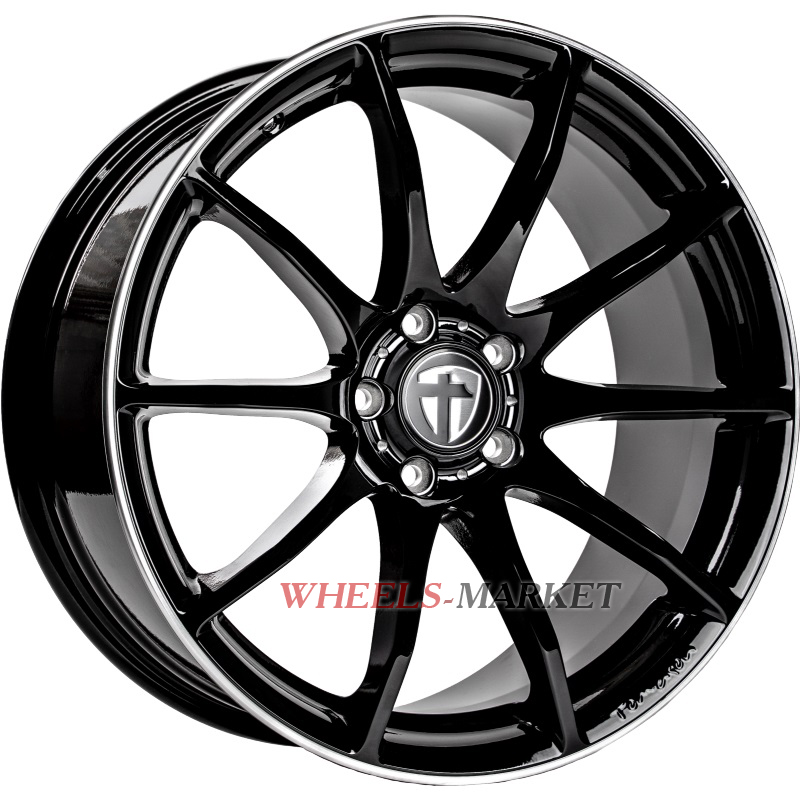Tomason TN1 8.5x18/5x112 D72.6 ET30 Glossy Black Rim Polished
