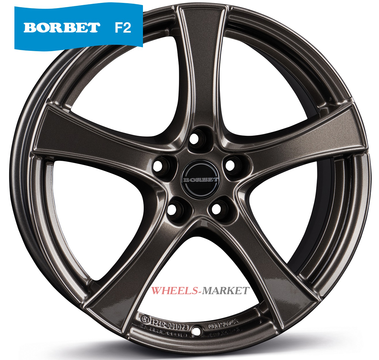 Borbet F2 6x16/5x098 D58.1 ET37 mistral anthracite glossy