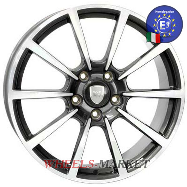 WSP Italy LEGEND W1055 11x20/5X130 D71.6 ET70 ANTHRACITE POLISHED