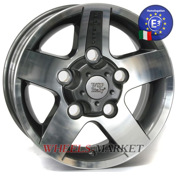 WSP Italy MALI W2354 8x16/5X165 D114 ET25 ANTHRACITE POLISHED