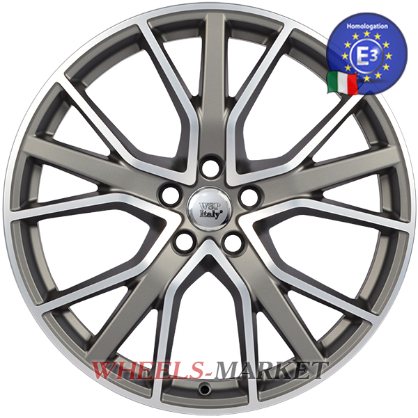 WSP Italy ALICUDI W571 8.5x20/5X112 D66.6 ET43 MATT GUN METAL POLISHED