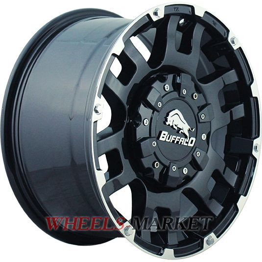 Buffalo BW-004 9x20/6x139.7 D106.3 ET30 GLOSS-BLACK-MACHINED-FACE
