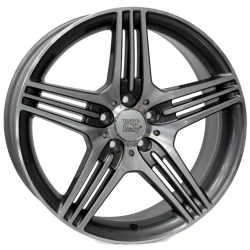 WSP Italy STROMBOLI W768 8.5x18/5X112 D66.6 ET48 Anthracite polished